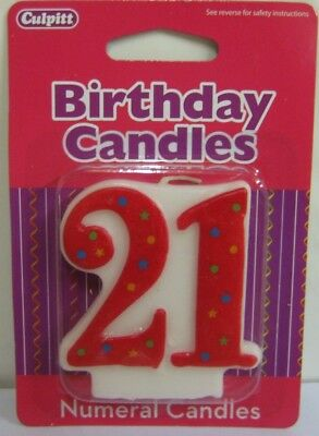Culpitt New Birthday Candles Large Numbers 818213040