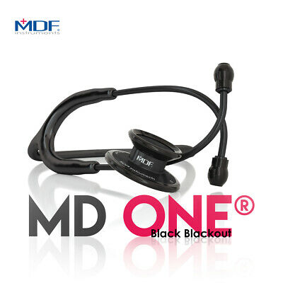 MDF instruments 777 MD one stainless steel stethoscope, black out