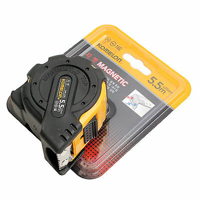 KOMELON KMC-25RJ Tape Measure Rulers Magnetic 5.5M*25, 7.5m×25mm