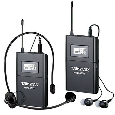 Takstar WTG-500 Tour Guide Teaching UHF Wireless System 1 Transmitter 1 Receiver
