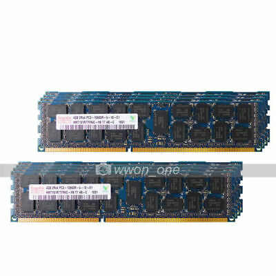 New Hynix 32GB 8X4GB 2RX4 PC3-10600R DDR3-1333Mhz CL9 ECC REG Server Ram Memory