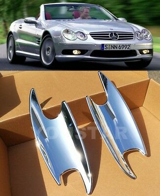 US STOCK x2 CHROME Door Handle Cup Covers for Mercedes Benz SL SLK CL C COUPE