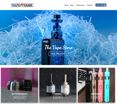 Vape Store Website Business - Earn $136 A SALE. Free Domain|FREE Hosting