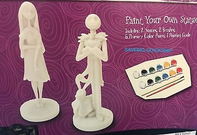 Nightmare Before Christmas Paint your own Statue Set Jack Skellington and Sally