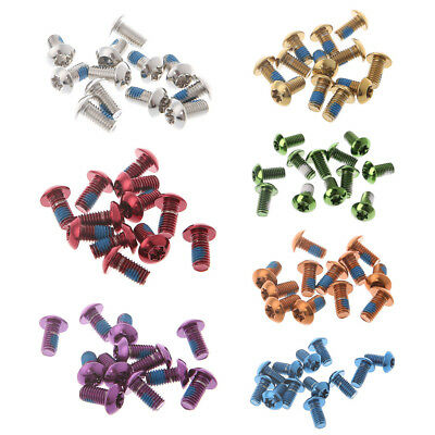 12Pcs Bicycle Disc Brake Screws Alloy Steel Bolt Rotor Cycling For Mountain Bike