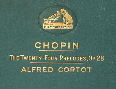 ALFRED CORTOT-PIANO-  Chopin: Twenty-Four Preludes Op. 28  4 records 78rpm  A253