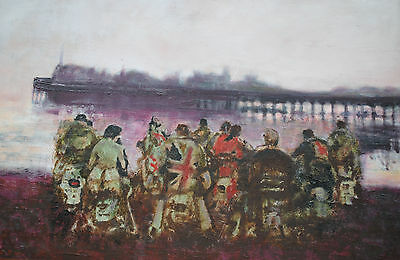 Iconic ~ Original, Large David Barrow 'mods' Oil Painting,  Signed, Northern Art