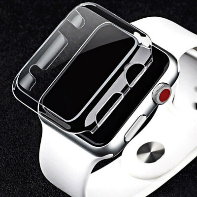 For Apple Watch Series 3/2/1 Ultra Clear Crystal Hard Snap On Case Cover 38/42mm