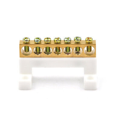 7 Positions Electric Cable Connector Screw Barrier Terminal Strip Block Bar FG