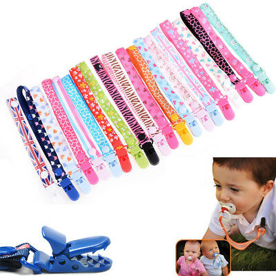 Baby Girl Pacifier Chain Clip Holder Nursing Teether Dummy Soother Nipple Strap