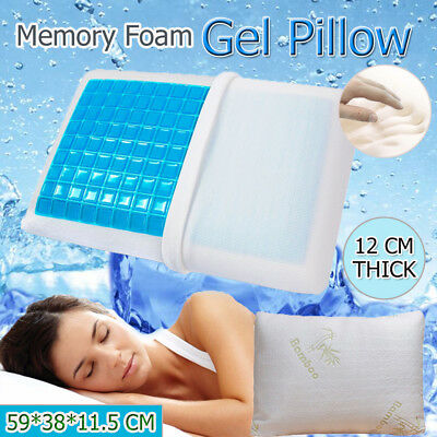 OZ Cool Gel Memory Foam Contour Pillow With Top Bamboo Cover 59 * 38 * 11.5cm
