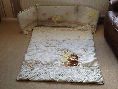 Little Suzy's  Zoo Cot Bed Quilt and Bumper Set Suitable For 12 Months +