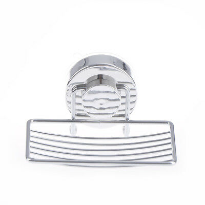 Stainless Steel Soap Holder Cup Box Dish Strong Vacuum Suction Cup Soap Storage~