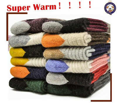 5 Pairs Lot Baby Toddler Boys Girls Kid 95% Cashmere Wool Thick Warm Soft Socks
