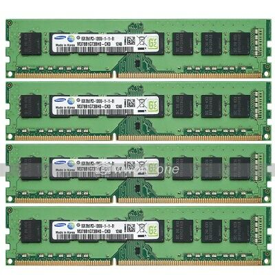 Samsung 32GB (4x8GB) PC3-12800 DDR3 1600MHz 240Pin DIMM Desktop Memory For Intel