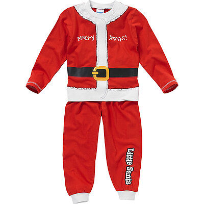 Baby Boys Little Santa Novelty Christmas Dress Up Pyjamas Red White 6-23mths
