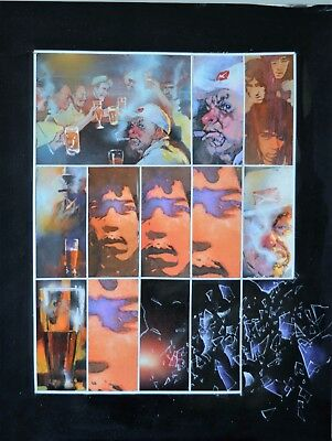 Board Original by Bill Sienkiewicz for Jimi Hendrix