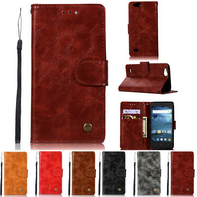 For ZTE Tempo X N9137 / Blade Vantage Z839 Leather Cover Slot Wallet Case Pouch
