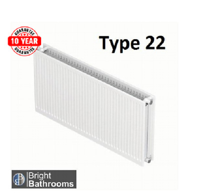 Compact Convector Radiator White Type 22 600X1300 Central Heating