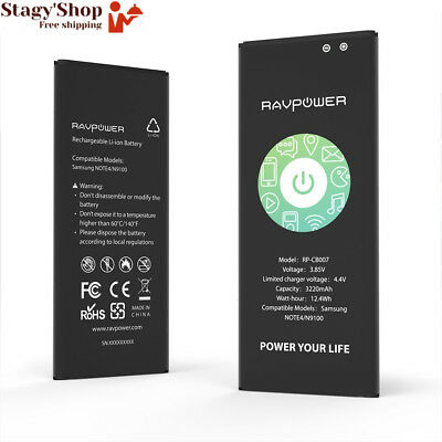 RAVPower Batterie de Samsung Galaxy Note 4 Batterie de remplacement 3220 mAh...