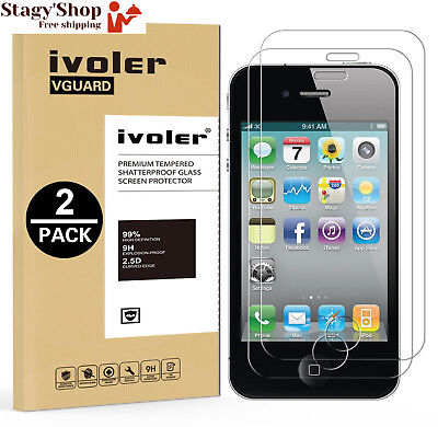 [2-Pack] iPhone 4 / 4S Protection écran , iVoler® Film Protection d'écran en...