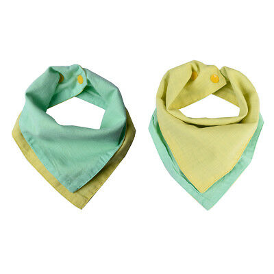 Baby Bandana Reversible Organic Cotton Muslin Cloth droll dribble bibs boy girl