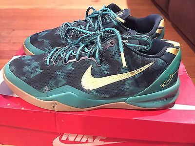 2013 Youth Nike Kobe VIII Dark Atomic Teal Electric Yellow Size 7Y Used Rare