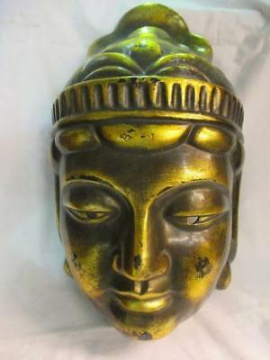 Japanese Antique Buddha statue Noshi Wall sculpture Mask Temple b1055