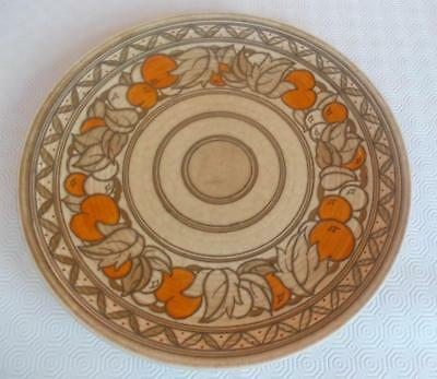 Vintage Charlotte Rhead Crown Ducal Fruit Border Charger C. 1938 Pattern 5802
