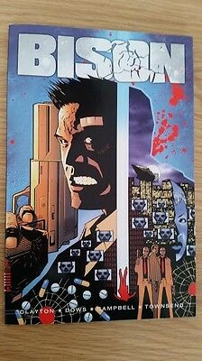 Bison 2000 AD Graphic Novel Comic Paperback *signed by artist Lee Townsend