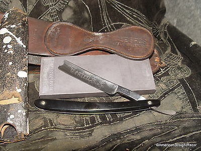 CASE Bros Straight Razor Hone Strop Tested XX Etched on Blade Antique Shaving NY