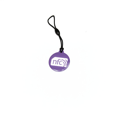10 Lilac ZipNFC NFC Hang Tags NTAG213: Windows  Nokia Samsung Sony HTC LG