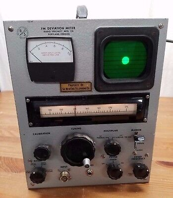 Vintage RADIO SPECIALTY RS FM DEVIATION METER- Tested Works! Excellent Condition