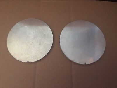 (2)pc. 3/8 INCH X 5 15/16 INCH ROUND/DISC ALUMINUM PLATE