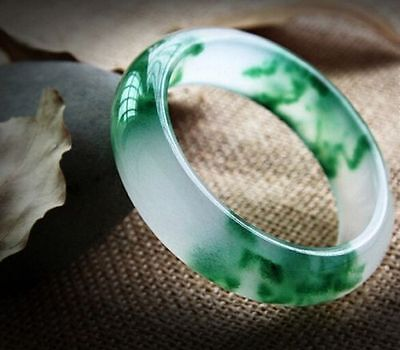 The Chinese natural jade bracelet Ice kinds of jadeite jade bracelet 60mm