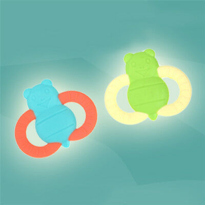 Safe soft Baby Teether Training Teething Ring Silicone Toothbrush
