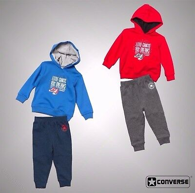 Baby Boys Branded Converse Two Piece Hoody And Jogger Set Size 3 Mnth - 3 Yrs