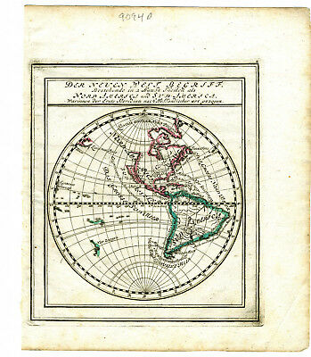 1704 Genuine Antique maps E. & W. Hemispheres. 2 sheets. G. Bodenehr