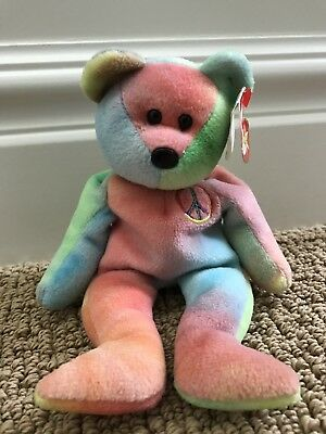 1fcdb09ea92 Rare 1996 Ty Beanie Baby Peace Bear Original Collectible with Tag Errors