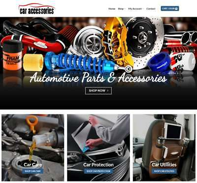 Car Accessories Website Business - Earn $298 A SALE. Instant Traffic|Domain