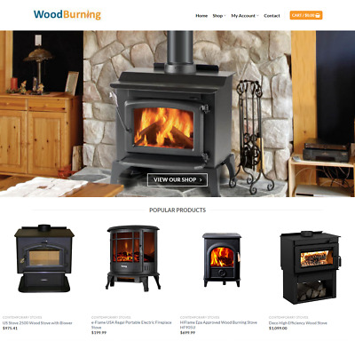 Wood Burning Website Business - Earn $805 A SALE. FREE Domain|FREE Hosting