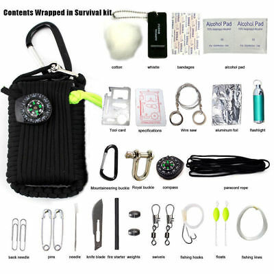 29PCS Portable Outdoor Emergency Survival Kits Disaster Gear First Aid Tools