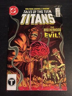 Tales Of Teen Titans#87 Incredible Condition 9.4(1985) Brotherhood Of Evil !