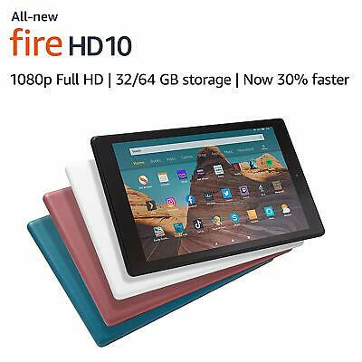 All New Fire HD 10 Tablet with Alexa Hand Free , 32GB, 1080p Full HD ,2019 Model