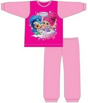 Girls Shimmer And Shine Pjs Kids Long Sleeve Childrens Pyjamas New Age 1-5 Years