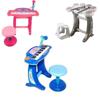 New Kids Children's 36 Key Electronic Keyboard Piano/Drum Set Multi Musical Toy