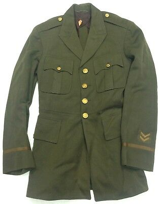 Pre WWII 1920s Army Officers Military Tunic Named #A8
