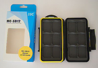 NEW AUS STOCK - JJC MC-SD12 Water Resistant Heavy Duty Memory Card Storage Case