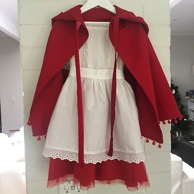 Handmade Cotton Little Red Riding Hood Outfit