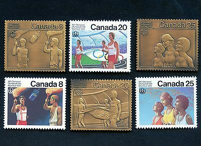 3 Bronze 1976 Canada Olyimpic & Stamps(15.55 Grams Each) Johnson Matthey #000063
